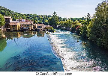 Borghetto village .Valeggio sul Mincio, Italy