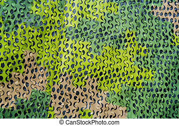 Green military camouflage net.