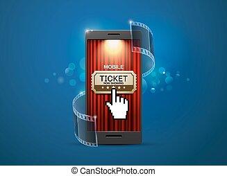 cinema movie ticket - cinema, movie ticket,online