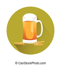 Oktoberfest Festival Glass Mug Beer Icon