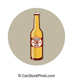 Oktoberfest Festival Bottle Beer Icon