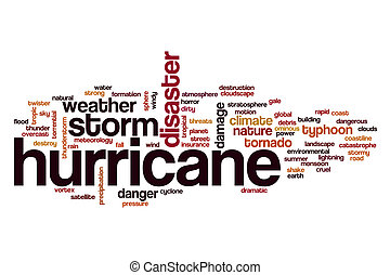 Hurricane word cloud concept