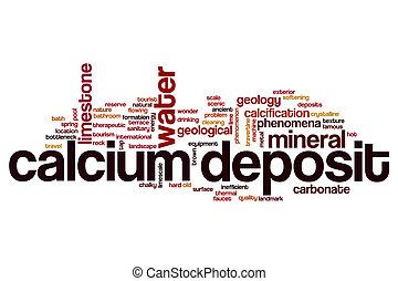 Calcium deposit word cloud concept