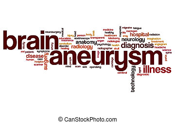 Brain aneurysm word cloud concept