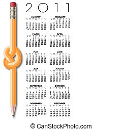 2011 knotted pencil calendar