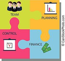 Business puzzle concept illustration