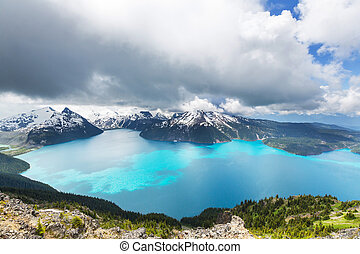Garibaldi lake - Hike on Garibaldi Lake near Whistler, BC,...