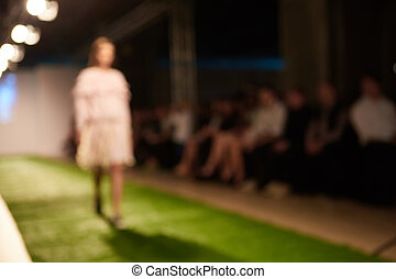 Fashion runway out of focus The blur background
