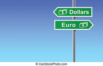 Arrows dollars euro.