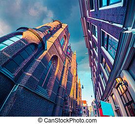 elementy, Od, autentyczny, Holenderski, Architektura