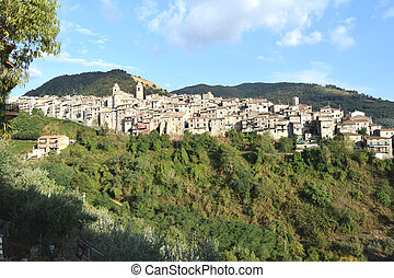 View of Piglio wine country - Lazio - Italy - A view of...