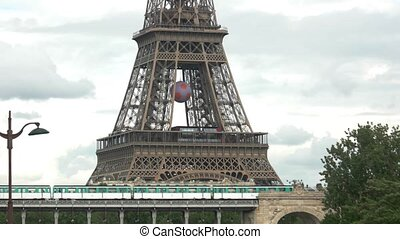 Lower part of Eiffel tower Famous landmark of Paris...