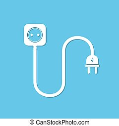 Extension cord icon - vector illustration. - Extension cord...