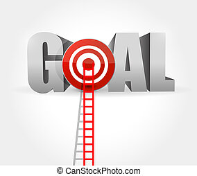 steps to goal success. ladder to your goal