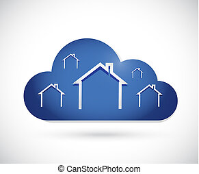 residential cloud concept illustration