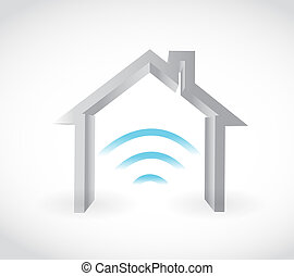 smart home concept isolated illustration