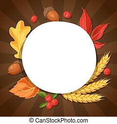 Thanksgiving Day greeting card. Background with copy space...
