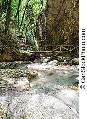 Orfento valley near Caramanico Terme in Abruzzo (Italy)