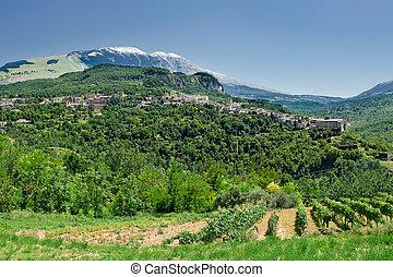 Caramanico small village in abruzzo Italy