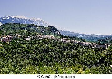 Caramanico small village in abruzzo (Italy)