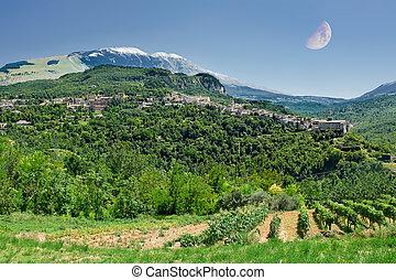 Caramanico small village in abruzzo (Italy)