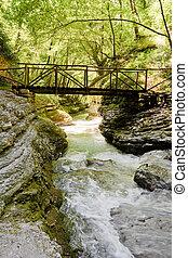 Orfento valley near Caramanico Terme in Abruzzo Italy