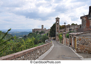 View of the city of Colle Val D Elsa