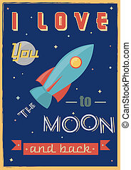 Poster: I Love You To The Moon And Back. - I Love You To The...