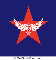Star eagle logo - Star shape with eagle. Vector sign. Logo...