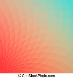 Geometric abstrackt backround - Background with bright red...