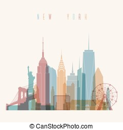 New York City poster - Transparent styled New York City...