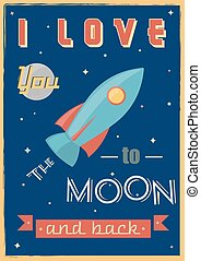 Poster: I Love You To The Moon And - I Love You To The Moon...