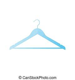 Clothes Hanger icon - Blue Clothes Hanger icon. Vector...