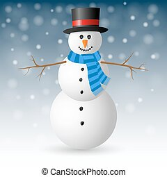 Christmas Greeting Card with snowman.