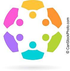 Abstract unity logo