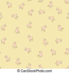 Sheeps kids seamless pattern