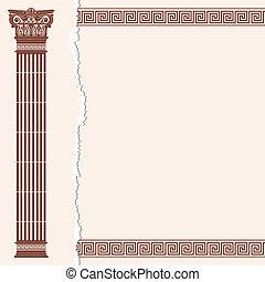 Vector Greek background - Vector Greek style frame ornament...