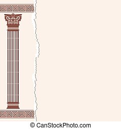Vector Greek background. - Vector Greek style frame ornament...