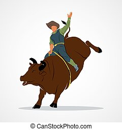 Rodeo Bull Ride - Rodeo cowboy Branding Identity Corporate...