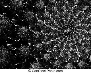 Abstract swirl digitally generated image - Abstract fractal...