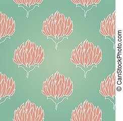 Pattern with flowers of clover. - Seamless background with...