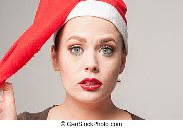 girl in christmas day - caucasian girl in christmas day