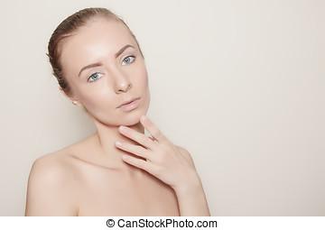 face skin treatment concept woman portrait