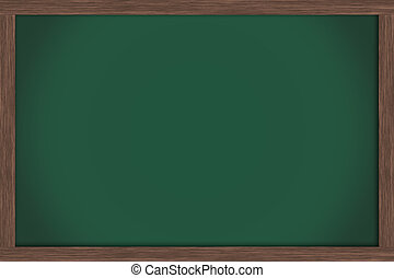 School Days - An empty green chalkboard , School Days