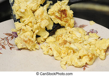 Scramble eggs
