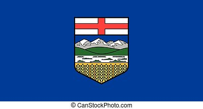 Flag of Alberta in correct proportions and colors - Flag of...
