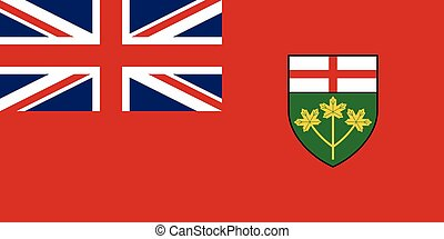 Flag of Ontario in correct proportions and colors - Flag of...