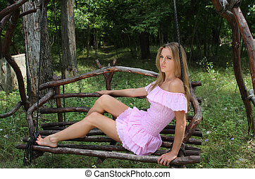 Girl on the swing