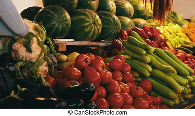 Vegetables on the Counter Market