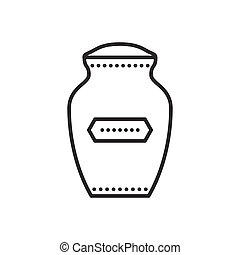 Vector funeral urn icon - Funeral urn icon. Urn for ashes....